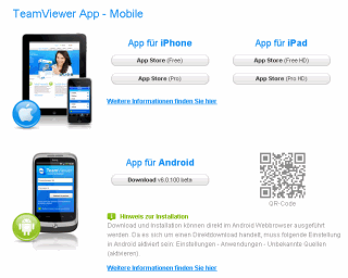 Teamviewer für Smartphones Screenshot